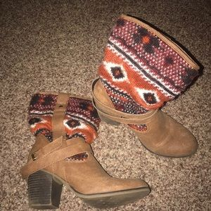 Candie's Shoes - Tribal print booties